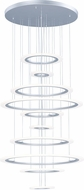 ET2 E22665-11MS Saturn II LED Modern Matte Silver Multi Hanging Pendant Lighting