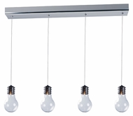 ET2 E22694-18PC Edison Modern Polished Chrome Finish 59.75  Tall Xenon Kitchen Island Light