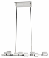 ET2 E22897-89PC Volt Modern Polished Chrome Finish 58  Tall LED Island Lighting