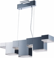 ET2 E24466-160PC Pizzazz Contemporary Polished Chrome LED Kitchen Island Light Fixture