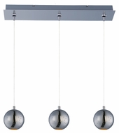 ET2 E24484-PC Polaris Contemporary Polished Chrome Finish 24.25  Wide LED Kitchen Island Lighting