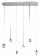 ET2 E24505-91PC Harmony Contemporary Polished Chrome Finish 27.25  Wide LED Kitchen Island Light Fixture