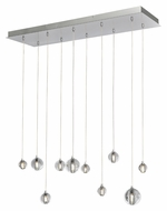 ET2 E24507-91PC Harmony Contemporary Polished Chrome Finish 33.75  Wide LED Island Lighting