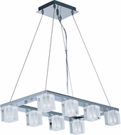 ET2 E32036-18PC Blocs Modern Polished Chrome LED Kitchen Island Lighting