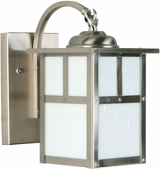 Exteriors Z1844-56 Mission Craftsman Stainless Steel Exterior Small Lamp Sconce