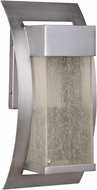Exteriors Z2504-19-LED Ontario LED Modern Brushed Titanium Outdoor Small Lighting Wall Sconce