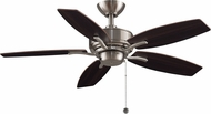 Fanimation Fans FP6244BN Aire Deluxe Brushed Nickel 44  Ceiling Fan Fixture w/ Reversible Blades