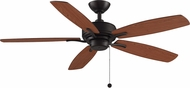 Fanimation Fans FP6284DZ Aire Deluxe Dark Bronze 52  Home Ceiling Fan w/ Reversible Blades