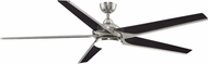 Fanimation Fans FPD6236BN Subtle Contemporary Brushed Nickel LED Interior / Exterior 72  Home Ceiling Fan