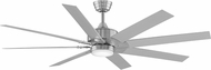Fanimation Fans FPD7916BN Levon Brushed Nickel LED Indoor / Outdoor 63  Ceiling Fan