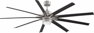 Fanimation Fans FPD8149BNWBL Odyn Brushed Nickel LED Outdoor 84  Ceiling Fan Fixture