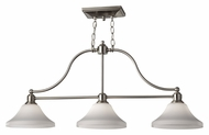 Feiss F2779/3BS Cumberland 39 Inch Wide Brushed Steel Island Lighting