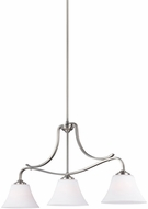 Feiss F3068-3SN Hamlet Satin Nickel Kitchen Island Lighting