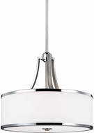 Feiss F3087-4SN-CH Prospect Park Satin Nickel / Chrome Pendant Light