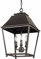 Feiss F3089-3DAC-AC Galloway Dark Antique Copper / Antique Copper Entryway Light Fixture