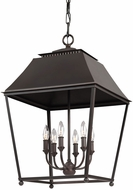 Feiss F3090-6DAC-AC Galloway Dark Antique Copper / Antique Copper Foyer Light Fixture