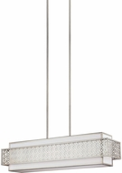 Feiss F3104-5SRS Kenney Sunrise Silver Kitchen Island Lighting