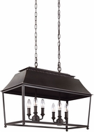 Feiss F3105-6DAC-AC Galloway Dark Antique Copper / Antique Copper Kitchen Island Light