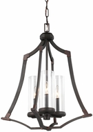 Feiss F3110-3DAC-AC Jacksboro Dark Antique Copper / Antique Copper Entryway Light Fixture