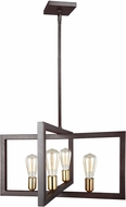 Feiss F3145-4NWB Finnegan Contemporary New World Bronze Mini Ceiling Chandelier