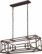 Feiss F3173-6WI Marquelle Modern Weathered Iron Island Lighting