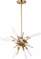 Feiss F3181-14BBS Quorra Contemporary Burnished Brass Pendant Lamp
