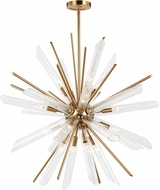 Feiss F3182-16BBS Quorra Modern Burnished Brass Hanging Lamp