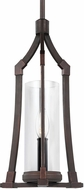 Feiss P1416DAC-AC Jacksboro Dark Antique Copper / Antique Copper Mini Drop Ceiling Lighting