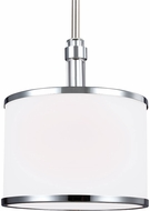 Feiss P1417SN-CH Prospect Park Satin Nickel / Chrome Mini Ceiling Light Pendant