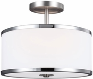 Feiss SF335SN-CH Prospect Park Satin Nickel / Chrome Overhead Lighting Fixture