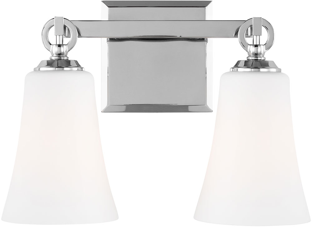 Chrome Bath Lighting Fixtures: Feiss VS23702CH Monterro Chrome 2-Light Bath Light Fixture