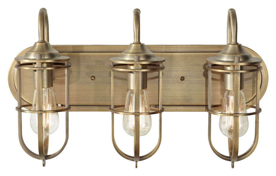 Nautical Bathroom Light Fixture: Feiss VS36003-DAB Urban Renewal Nautical Bath Lighting