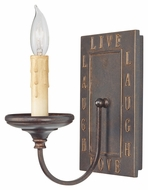 Feiss WB1705GBZ Live, Laugh, Love 5 Inch Wide Grecian Bronze Wall Sconce Lighting