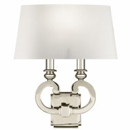 Fine Art Lamps 210750 Grosvenor Square Polished Nickel Finish 13  Wide Wall Sconce
