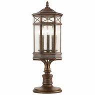 Fine Art Lamps 836980 Holland Park Traditional Antique Bronze Finish 12  Wide Exterior Pier Mount
