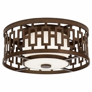 Fine Art Lamps 838682 River Oaks Dark Bronze Finish 7.5  Tall Outdoor Ceiling Lighting