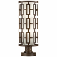 Fine Art Lamps 838880 River Oaks Dark Bronze Finish 10  Wide Exterior Pier Mount
