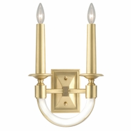 Fine Art Lamps 846450-2 Grosvenor Square Antique Brass Finish 14  Tall Wall Lighting Sconce
