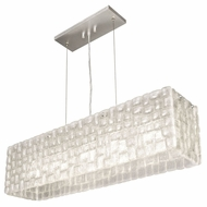 Fine Art Lamps 846740 Constructivism Contemporary Silver Leaf Finish 33  Wide Island Lighting