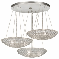 Fine Art Lamps 848240 Constructivism Contemporary Silver Leaf Finish 29  Wide Multi Lighting Pendant