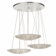 Fine Art Lamps 848440 Constructivism Modern Silver Leaf Finish 13  Tall Multi Pendant Lamp
