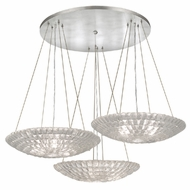 Fine Art Lamps 848640 Constructivism Contemporary Silver Leaf Finish 45  Wide Multi Hanging Lamp