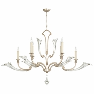 Fine Art Lamps 855040 Ice Sculpture Silver Leaf Finish 55  Wide Chandelier Light