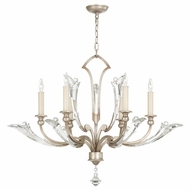 Fine Art Lamps 855340 Ice Sculpture Silver Leaf Finish 29.5  Tall Chandelier Lighting