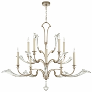 Fine Art Lamps 856040 Ice Sculpture Silver Leaf Finish 45  Tall Lighting Chandelier