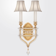 Fine Art Lamps 861650-21ST Prussian Neoclassic Brandenburg Gold Leaf Wall Lighting w/ Shades