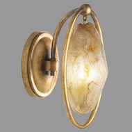 Fine Art Lamps 864950-22ST Quartz and Iron Florentine Gold LED Wall Sconce Lighting
