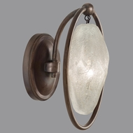 Fine Art Lamps 864950-31ST Quartz and Iron Bronze LED Wall Light Fixture