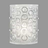 Fine Art Lamps 865050-22ST Hexagons Contemporary Silver LED Wall Mounted Lamp
