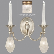 Fine Art Lamps 867650-21ST Quartz and Iron Florentine Gold LED Lighting Sconce